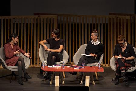 Orna Donath, María Llopis, Brigitte Vasallo y Bel Olid