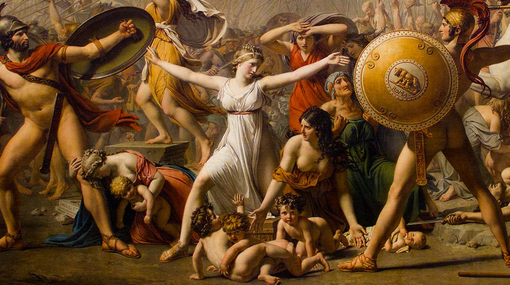 El rapto de las Sabinas, Jacques-Louis David (1795-1799)