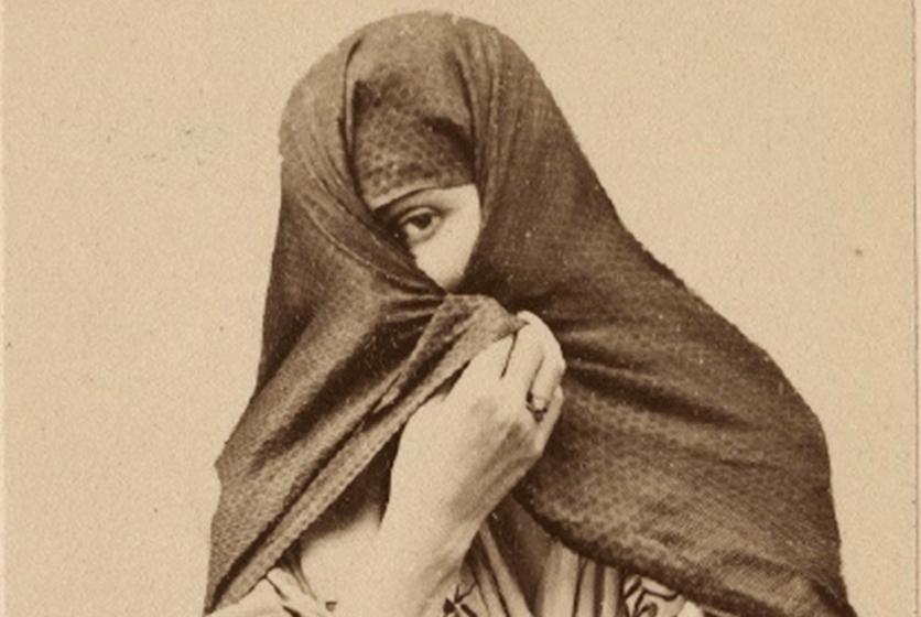 Tapada limeña, Courret Hermanos, Perú, c.1860