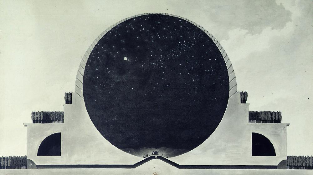 Etienne-Louis Boullée, Cenotafi per a Isaac Newton, 1784