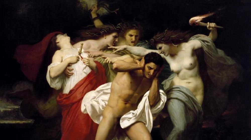 Orestes perseguit per les Furies, William Bouguereau, 1862