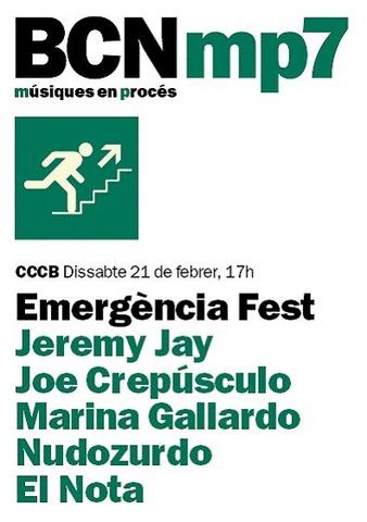 BCNmp7. Emergencia Fest