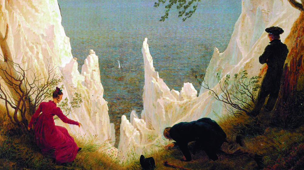 Penya-segats blancs a Rügen, Caspar David Friedrich, 1818