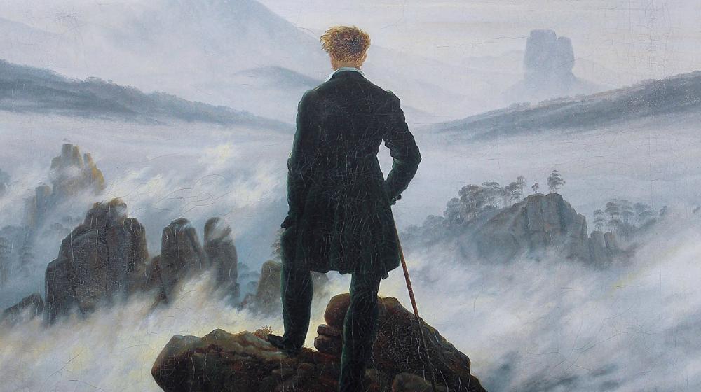 Caminant damunt un mar de boira, Caspar David Friedrich, 1817