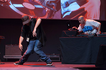 "Primera Persona 2013. DJ Neas, Ramón Giménez ""El Brujo"" i Luis Hidalgo"