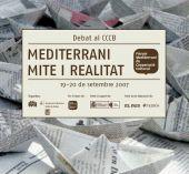 Imatge del tríptic del Debat Mediterrània. Mite i realitat