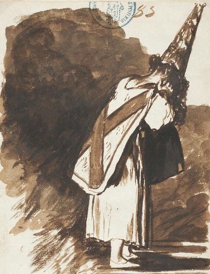 Por haber nacido en otra parte. Francisco de Goya, c. 1810-1811