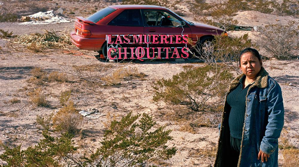 """""""Malú"""", de la serie de audio fotografías del proyecto Las Muertes Chiquitas Barcelona 2016 © Mireia Sallarès / Créditos fotográficos: Dante Busquets / Cortesía de la galería Àngels Barcelona"""