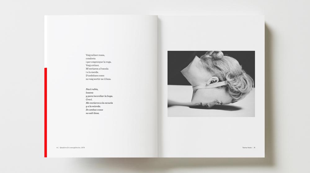 Imatge del llibre «Panoptik» amb un poema d'Antonina Canyelles i una fotografia de Txema Yeste