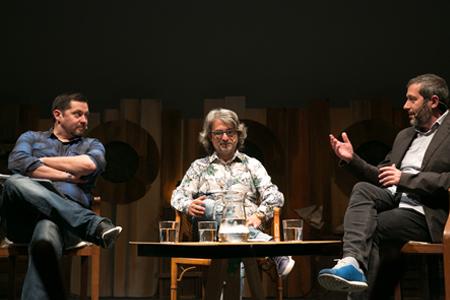 Carles Porta, Joan M. Oleaque y Ramón Campos
