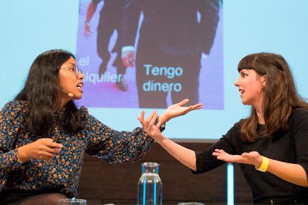 Rocío Quillahuaman and Roberta Vázquez