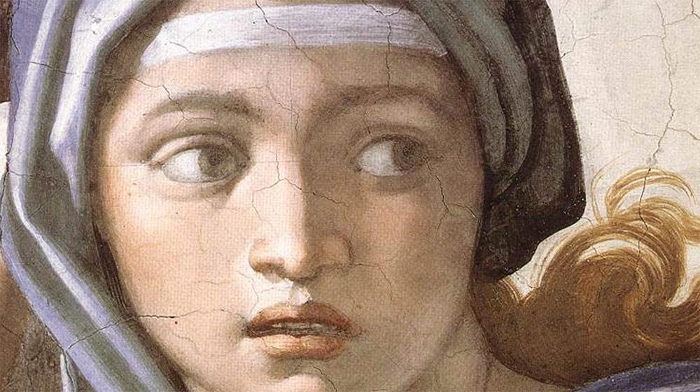 Sibil·la de Delfos, Michelangelo, 1509